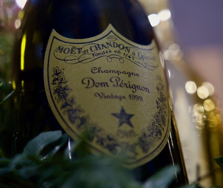 Bottle of Moet et Chandon Dom Periignon vintage