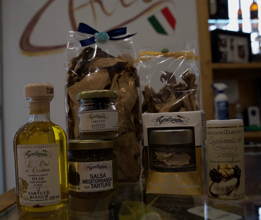 Truffle products like sauces, oil and dried truffles