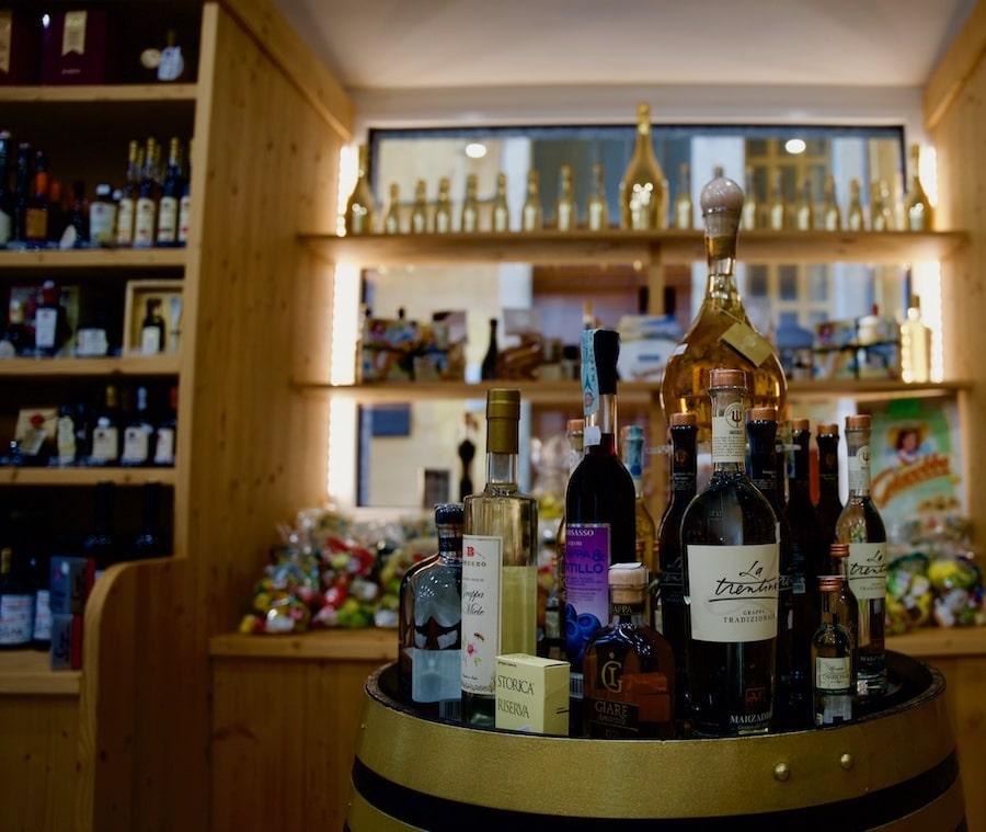 Wine and limoncello store area